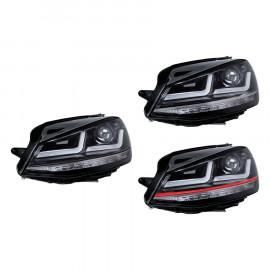 LED Hauptscheinwerfer Set OSRAM Black Edition für VW Golf VII mit Halogenscheinwerfer
