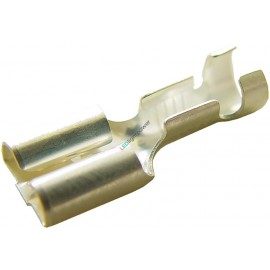 Flachsteckhülse 2.5mm2 mit Wiederhaken