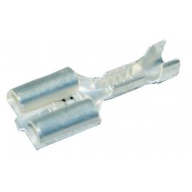 Flachsteckhülse bis 1.5mm2 mit Wiederhaken