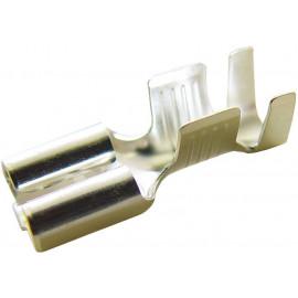 Flachsteckhülse 6mm2 mit Wiederhaken