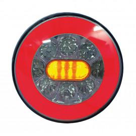 LED Schlussleuchte rund Neon Look, Fristom FT110