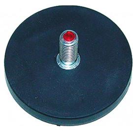 Magnet gummiert mit Gewindebolzen