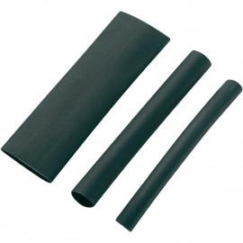 Schrumpfschlauch schwarz 3:1 Meterware mit Kleber
