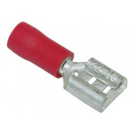 Flachsteckhülsen isoliert 6.3mm
