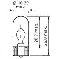 T10 LED (W2.1x9.5d) W5W, W16W